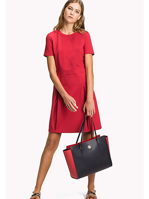 TOMMY HILFIGER Punto Milano Dress - CRIMSON - TOMMY HILFIGER Миди - главное изображение