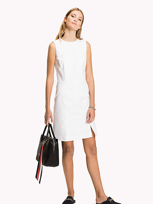 TOMMY HILFIGER Cotton Slim Fit Dress - CLASSIC WHITE - TOMMY HILFIGER The Office Edit - main image
