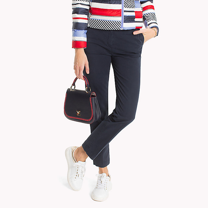 TOMMY HILFIGER Moa Regular Fit Chinos - CRIMSON - TOMMY HILFIGER Women - main image