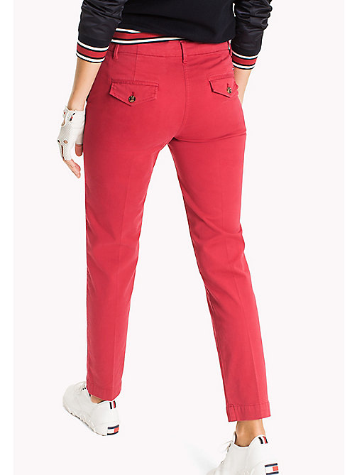 TOMMY HILFIGER Moa Regular Fit Chinos - CRIMSON - TOMMY HILFIGER Trousers - detail image 1