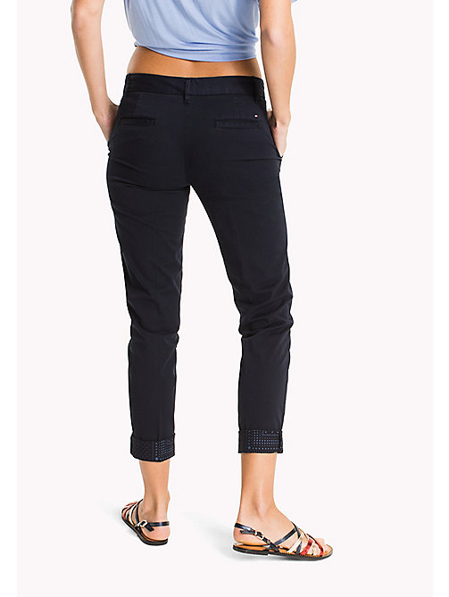 TOMMY HILFIGER Cotton Twill Skinny Fit Chinos - MIDNIGHT - TOMMY HILFIGER Trousers - detail image 1