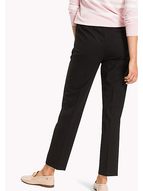 TOMMY HILFIGER Wool Pull-On Trousers - BLACK BEAUTY - TOMMY HILFIGER The Office Edit - detail image 1