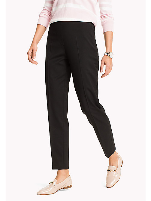 TOMMY HILFIGER Wool Pull-On Trousers - BLACK BEAUTY - TOMMY HILFIGER Clothing - main image