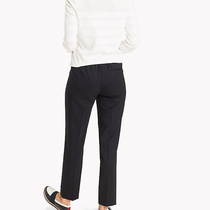 TOMMY HILFIGER Wool Pull-On Trousers - BLACK BEAUTY - TOMMY HILFIGER Women - detail image 1