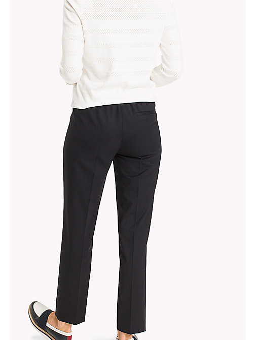TOMMY HILFIGER Wool Pull-On Trousers - MIDNIGHT - TOMMY HILFIGER The Office Edit - detail image 1