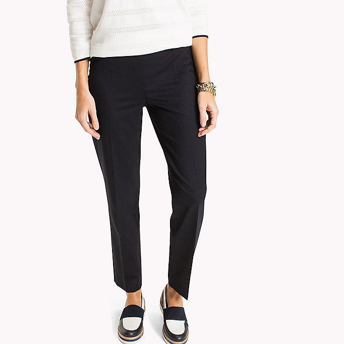 TOMMY HILFIGER Wool Pull-On Trousers - BLACK BEAUTY - TOMMY HILFIGER Women - main image