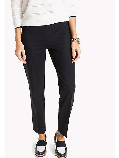 TOMMY HILFIGER Wool Pull-On Trousers - MIDNIGHT - TOMMY HILFIGER Clothing - main image