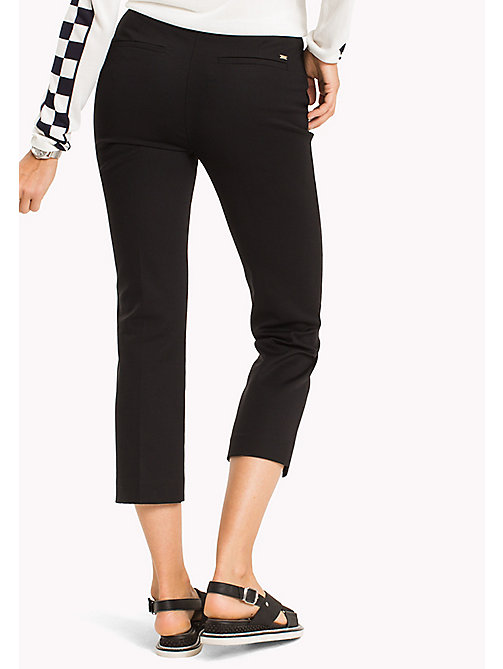 TOMMY HILFIGER Slim Fit Trousers - BLACK BEAUTY - TOMMY HILFIGER The Office Edit - detail image 1