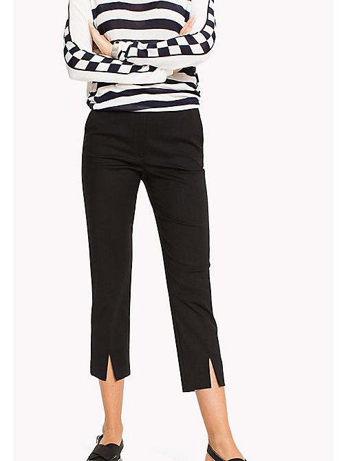 TOMMY HILFIGER Slim Fit Trousers - BLACK BEAUTY - TOMMY HILFIGER Cropped Trousers - main image