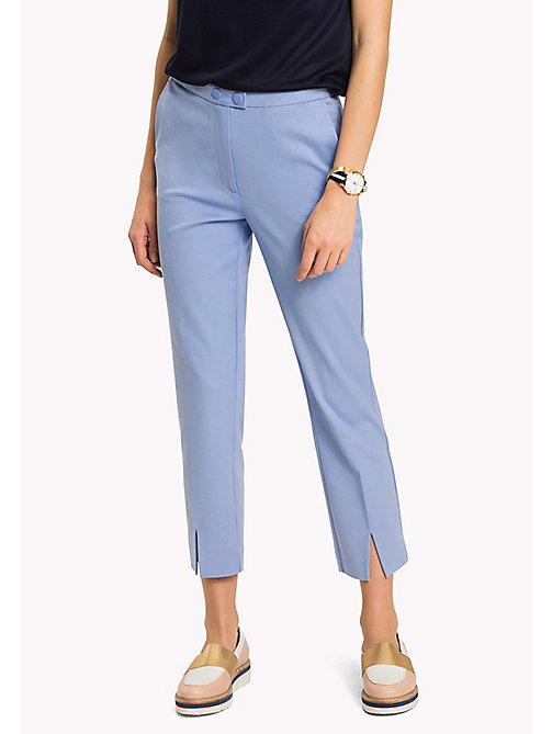 TOMMY HILFIGER Slim Fit Trousers - HYDRANGEA - TOMMY HILFIGER Cropped Trousers - main image