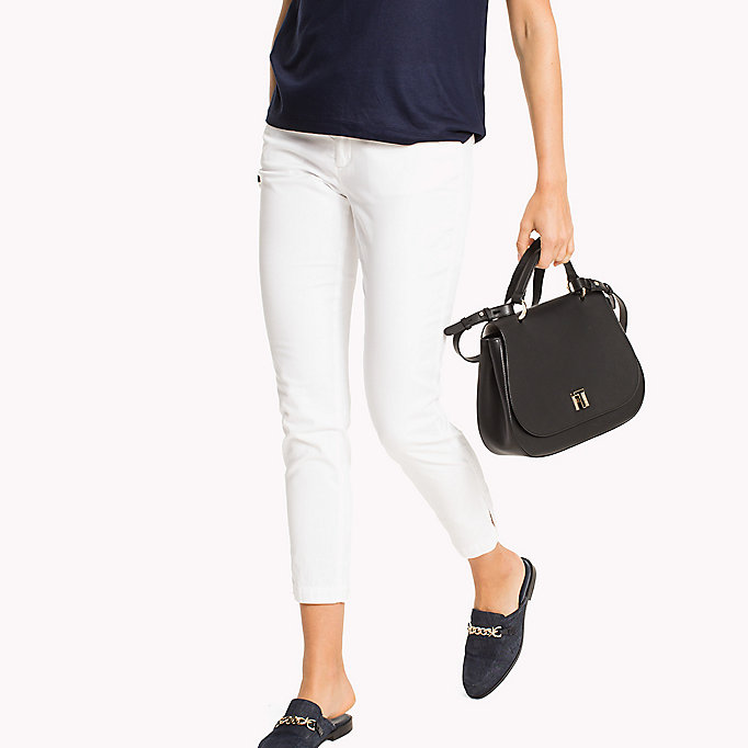 TOMMY HILFIGER Slim Fit Chinos - REGATTA - TOMMY HILFIGER Women - main image