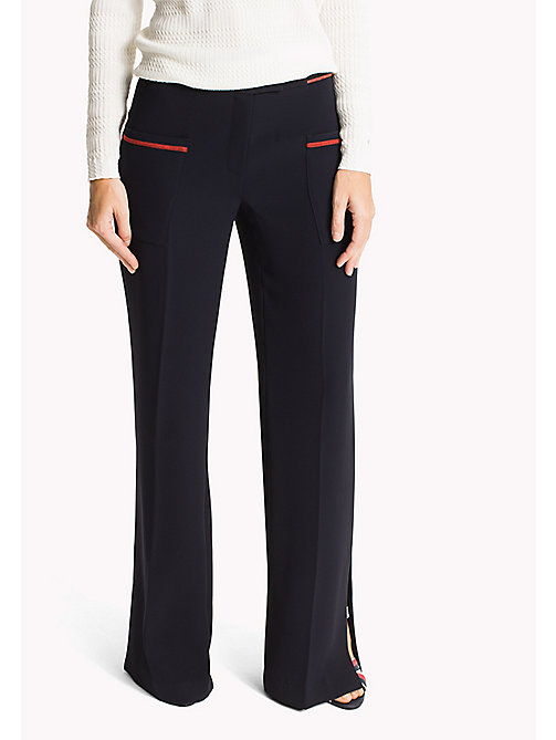 TOMMY HILFIGER Wide Leg Trousers - MIDNIGHT -  Women - main image