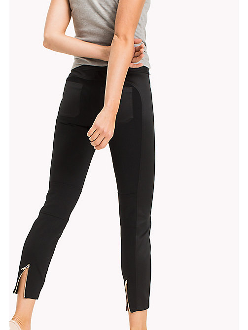 TOMMY HILFIGER Slim Fit Trousers - BLACK BEAUTY - TOMMY HILFIGER Women - detail image 1