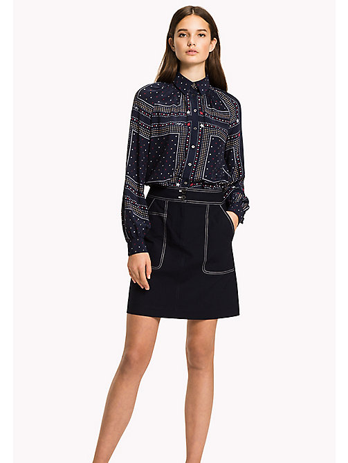 TOMMY HILFIGER Regular Fit A-Line Skirt - MIDNIGHT - TOMMY HILFIGER Skirts - main image