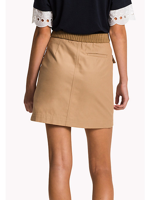 Belted Mini Skirt - CLASSIC CAMEL - TOMMY HILFIGER Clothing - detail image 1