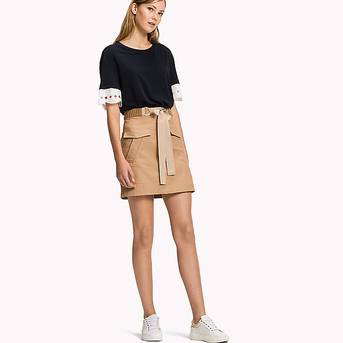 TOMMY HILFIGER Belted Mini Skirt - MIDNIGHT - TOMMY HILFIGER Women - main image