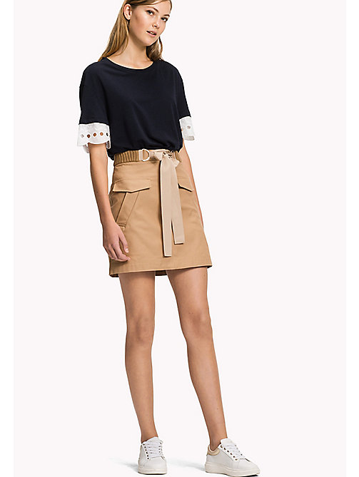 TOMMY HILFIGER Belted Mini Skirt - CLASSIC CAMEL - TOMMY HILFIGER Skirts - main image