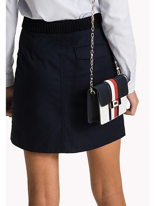 TOMMY HILFIGER Belted Mini Skirt - MIDNIGHT - TOMMY HILFIGER Skirts - detail image 1