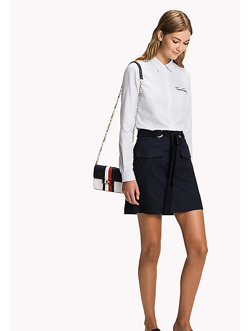 TOMMY HILFIGER Belted Mini Skirt - MIDNIGHT - TOMMY HILFIGER Skirts - main image