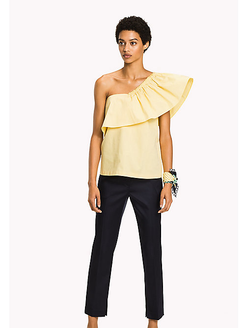 TOMMY HILFIGER One Shoulder Sleeve Top - SUNSHINE - TOMMY HILFIGER Clothing - main image
