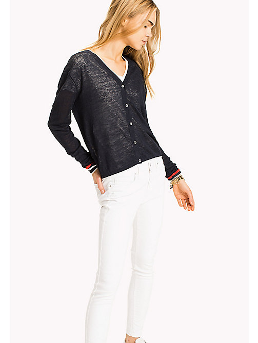TOMMY HILFIGER Cardigan regular fit con scollo a V - MIDNIGHT - TOMMY HILFIGER Cardigan - immagine principale