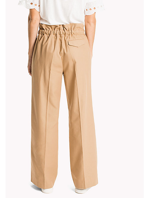 Paperbag Waist Trousers - CLASSIC CAMEL -  Clothing - detail image 1