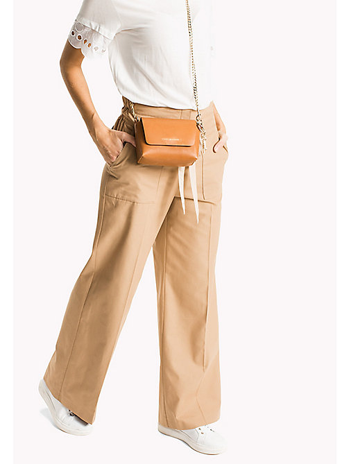 Paperbag Waist Trousers - CLASSIC CAMEL -  Clothing - main image