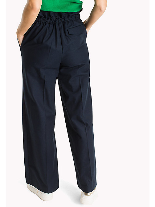 Paperbag Waist Trousers - MIDNIGHT - TOMMY HILFIGER Clothing - detail image 1