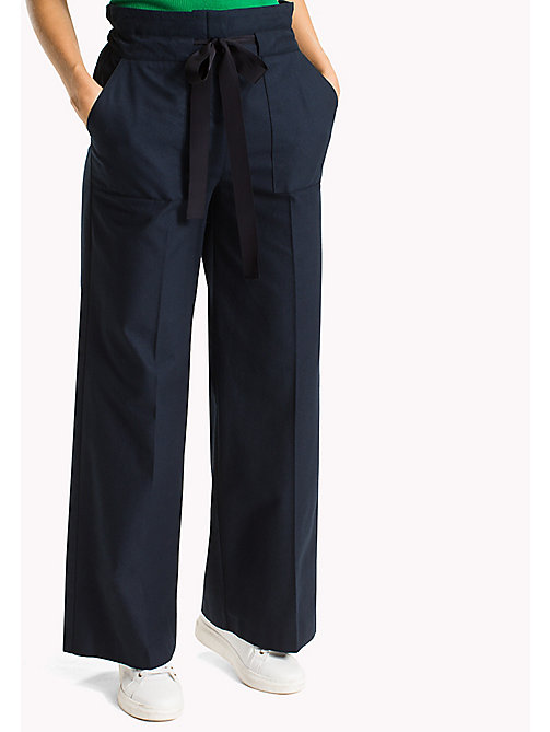 TOMMY HILFIGER Paperbag Waist Trousers - MIDNIGHT - TOMMY HILFIGER New arrivals - main image