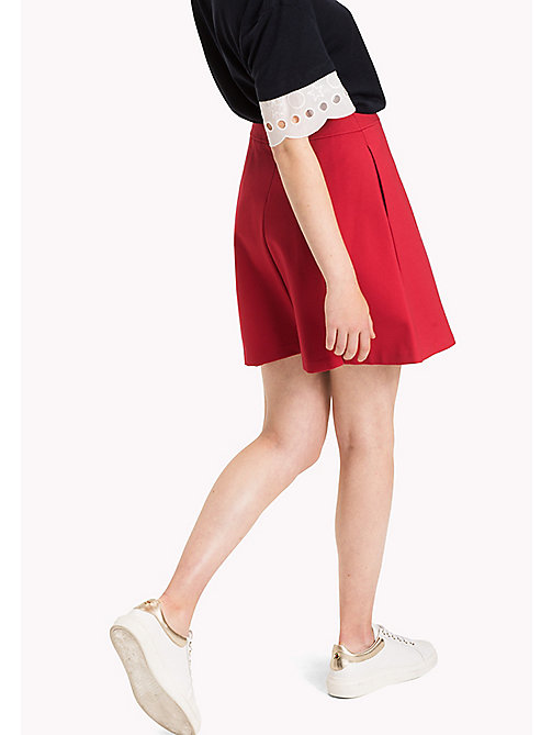 Punto Milano Skirt - CRIMSON - TOMMY HILFIGER Clothing - detail image 1