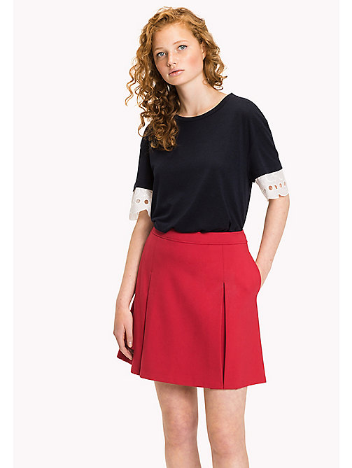 Punto Milano Skirt - CRIMSON - TOMMY HILFIGER Clothing - main image