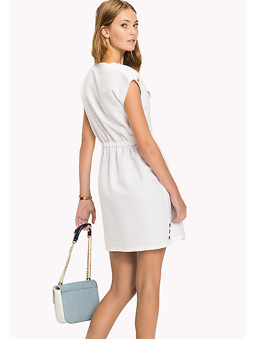 TOMMY HILFIGER Fitted Dress - CLASSIC WHITE - TOMMY HILFIGER Midi - detail image 1