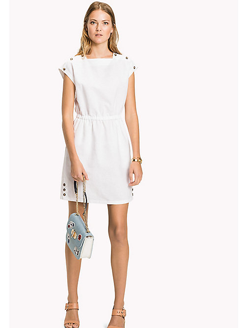 TOMMY HILFIGER Fitted Dress - CLASSIC WHITE - TOMMY HILFIGER Midi - main image