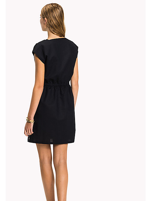 TOMMY HILFIGER Fitted Dress - MIDNIGHT - TOMMY HILFIGER Midi - detail image 1