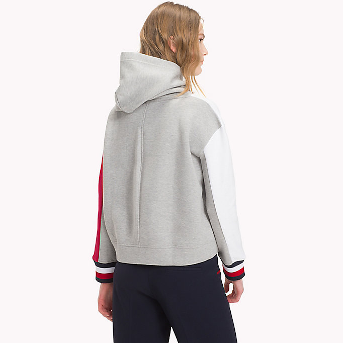 TOMMY HILFIGER Colour-Blocked Hoodie - BLACK BEAUTY - TOMMY HILFIGER Women - detail image 1