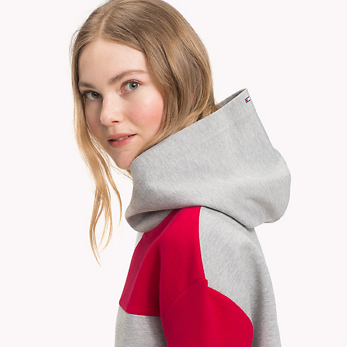 TOMMY HILFIGER Colour-Blocked Hoodie - BLACK BEAUTY - TOMMY HILFIGER Women - detail image 2