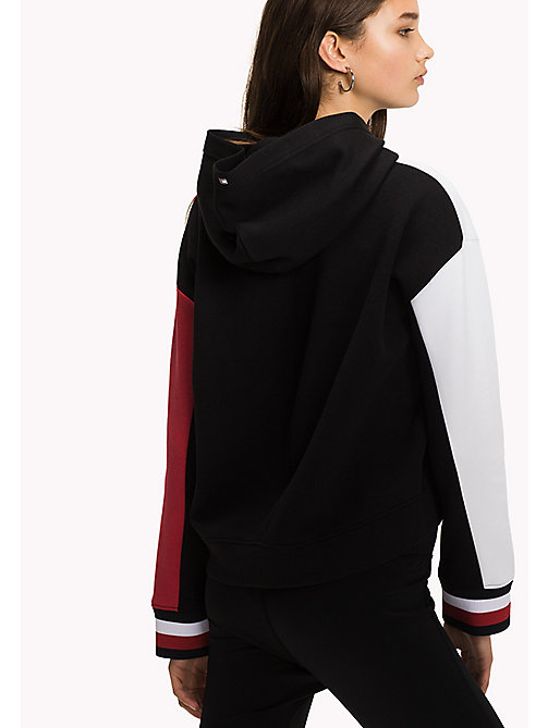 TOMMY HILFIGER Colour-Blocked Hoodie - BLACK BEAUTY - TOMMY HILFIGER Athleisure - detail image 1