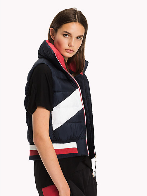 TOMMY HILFIGER Gilet in color block - MIDNIGHT/HAUTE RED/CLASSIC WHITE - TOMMY HILFIGER Athleisure - immagine principale