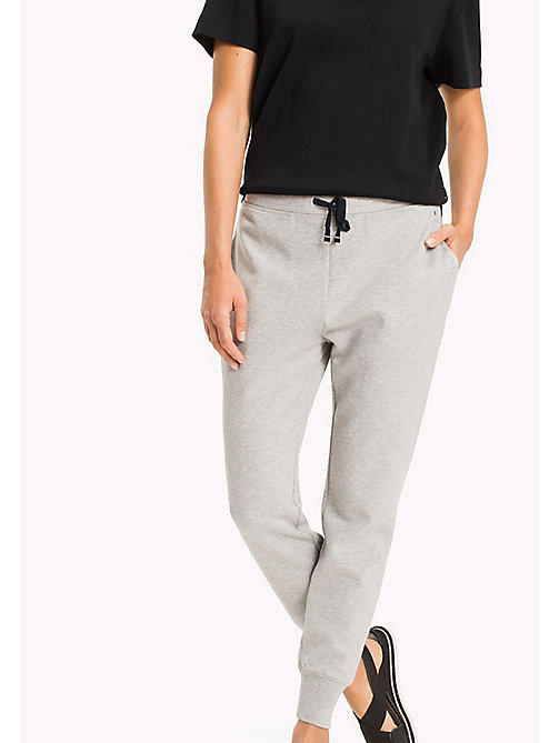 TOMMY HILFIGER Regular Fit Joggers - LIGHT GREY HTR - TOMMY HILFIGER Clothing - main image