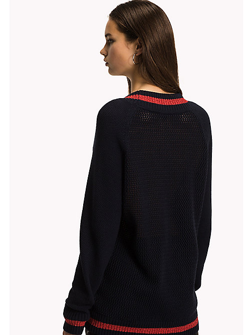 TOMMY HILFIGER Varsity Regular Fit Jumper - MIDNIGHT - TOMMY HILFIGER Jumpers - detail image 1
