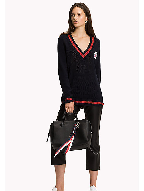 TOMMY HILFIGER Varsity Regular Fit Jumper - MIDNIGHT -  NEW IN - main image