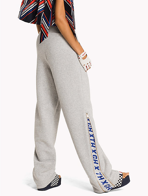 TOMMY HILFIGER Gigi Hadid Zip Track Pant - LIGHT GREY HTR - TOMMY HILFIGER Clothing - detail image 1