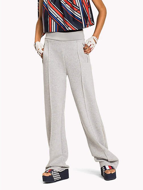 TOMMY HILFIGER Gigi Hadid Zip Track Pant - LIGHT GREY HTR - TOMMY HILFIGER Clothing - main image