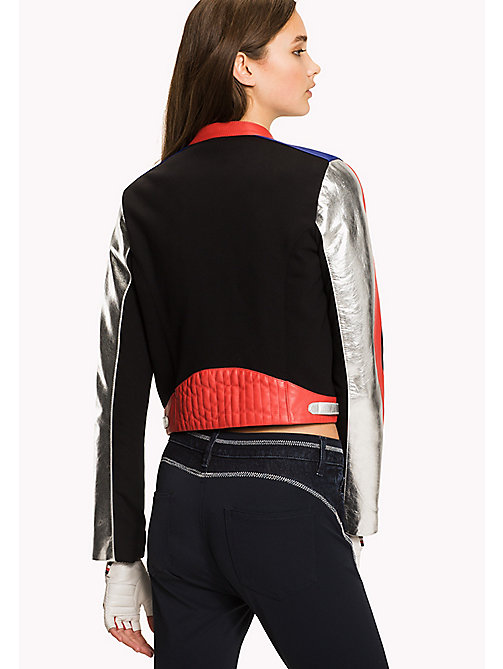 TOMMY HILFIGER Gigi Hadid Leather Speed Jacket - SURF THE WEB / MULTI - TOMMY HILFIGER Women - detail image 1