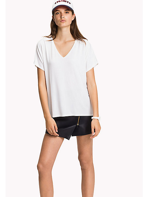 TOMMY HILFIGER V-Neck T-Shirt - CLASSIC WHITE - TOMMY HILFIGER Tops - main image