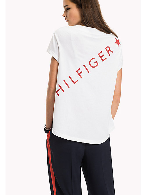 Logo Cotton T-Shirt - CLASSIC WHITE - TOMMY HILFIGER Clothing - detail image 1