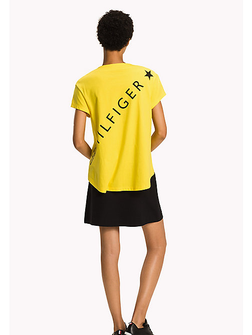 TOMMY HILFIGER Logo Cotton T-Shirt - EMPIRE YELLOW - TOMMY HILFIGER Athleisure - detail image 1