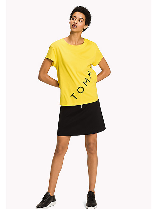 TOMMY HILFIGER Logo Cotton T-Shirt - EMPIRE YELLOW - TOMMY HILFIGER Athleisure - main image