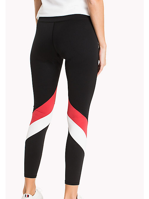 TOMMY HILFIGER Colour-Blocked Leggings - BLACK BEAUTY - TOMMY HILFIGER Athleisure - detail image 1