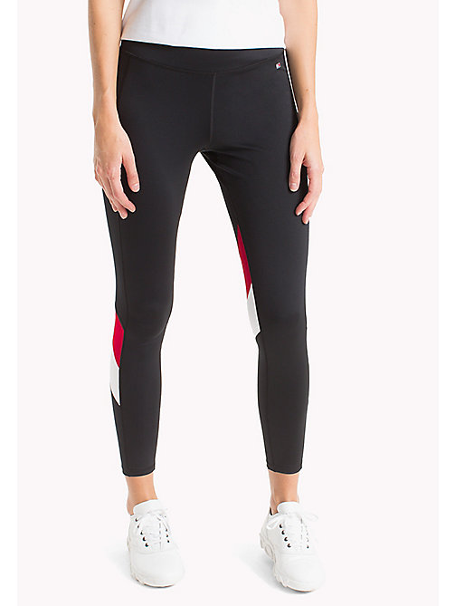 TOMMY HILFIGER Colour-Blocked Leggings - BLACK BEAUTY - TOMMY HILFIGER Athleisure - main image